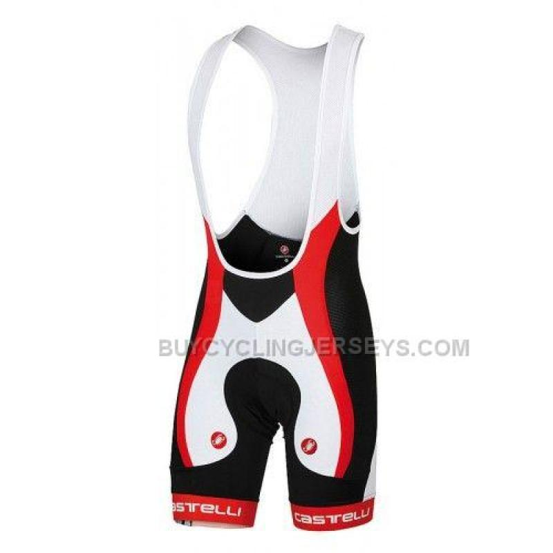 castelli velocissimo due mens cycling bib short black white red ... b2ccc92eb