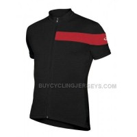 icebreaker short sleeve circuit merino mens wool cycling jersey black rocket red